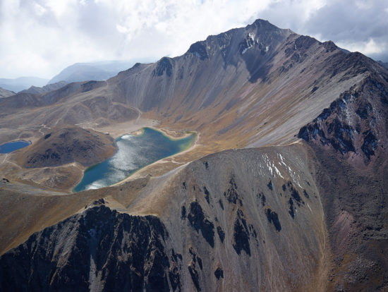 A view of the side of a mountain  Description automatically generated